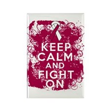Head Neck Cancer Keep Calm Fight On Rectangle Magn