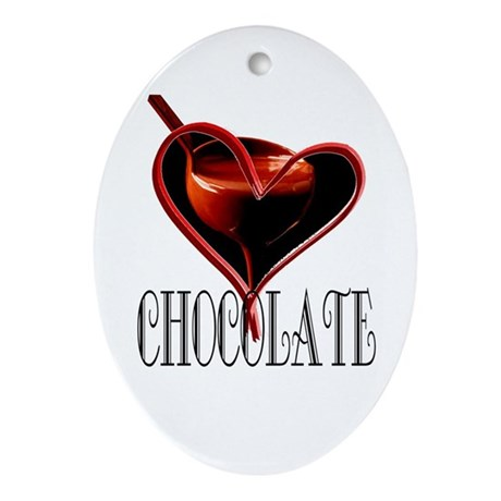 CHOCOLATE Oval Ornament