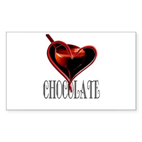 CHOCOLATE Rectangle Sticker