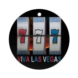 Viva Las Vegas Triple Bar 777 Ornament (Round)