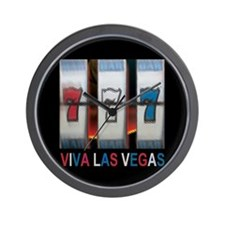 Viva Las Vegas Triple Bar 777 Slot Wall Clock