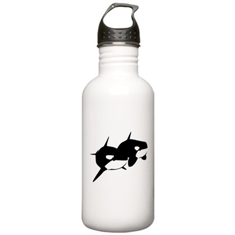 Orca, Killer Whale Couple Stainless Water Bottle 1