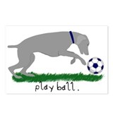 "Weimaraner ""Play Ball"" Postcards (Package of 8)"
