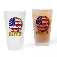 USA Volleyball Drinking Glass