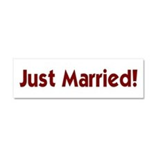 Just Married Bumper Magnet Car Magnet 10 x 3