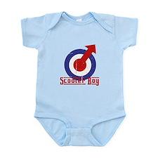 Scooterboy Target Alpha Design Infant Bodysuit