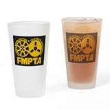 FMPTA Logo, Gold On Black Drinking Glass