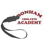 Bonham Red.png Large Luggage Tag