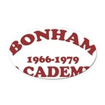Bonham Red.png Oval Car Magnet