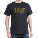 2007 Year of The Pig Black T-Shirt