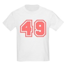 Varsity Uniform Number 49 (Pink) Kids T-Shirt