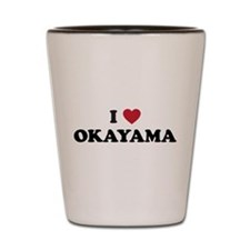 I Love Okayama Shot Glass