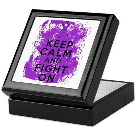 Leiomyosarcoma Keep Calm Fight On Keepsake Box