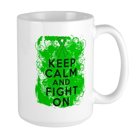 Kidney Disease Keep Calm Fight On Large Mug