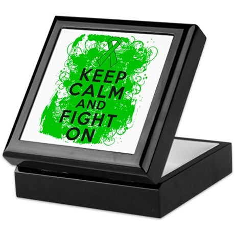 Kidney Cancer Keep Calm Fight On Keepsake Box