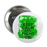 "Kidney Cancer Keep Calm Fight On 2.25"" Button"