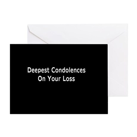 """Dog Condolences"" Greeting Card"