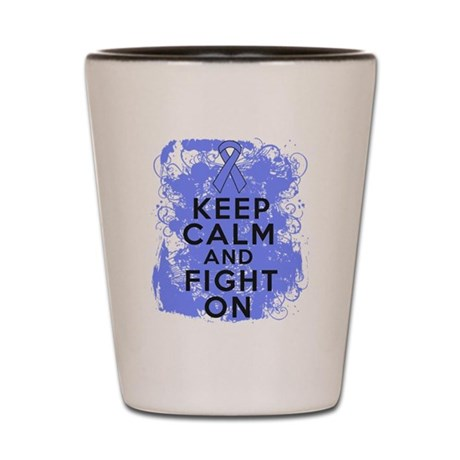 Intestinal Cancer Keep Calm Fight On Shot Glass