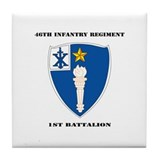 DUI - 1st Battalion - 46th Infantry Regiment wih T