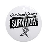 Survivor - Carcinoid Cancer Ornament (Round)