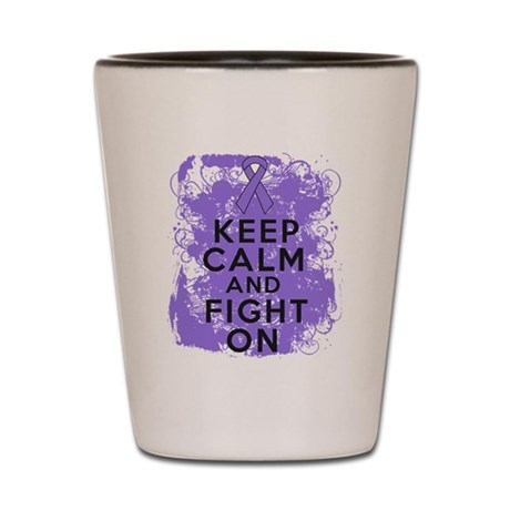 Hodgkins Lymphoma Keep Calm Fight On Shot Glass