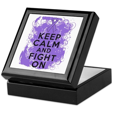 Hodgkins Lymphoma Keep Calm Fight On Keepsake Box