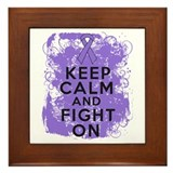 Hodgkins Lymphoma Keep Calm Fight On Framed Tile