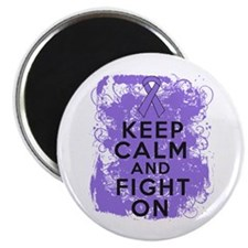 Hodgkins Lymphoma Keep Calm Fight On Magnet