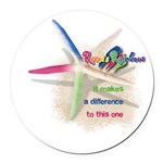 It Makes a Difference Round Car Magnet
