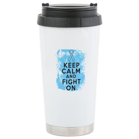 Prostate Cancer Keep Calm Fight On Ceramic Travel