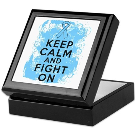 Prostate Cancer Keep Calm Fight On Keepsake Box