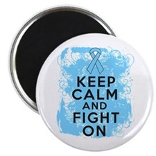 "Prostate Cancer Keep Calm Fight On 2.25"" Magnet (1"