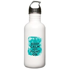 Peritoneal Cancer Keep Calm Fight On Water Bottle