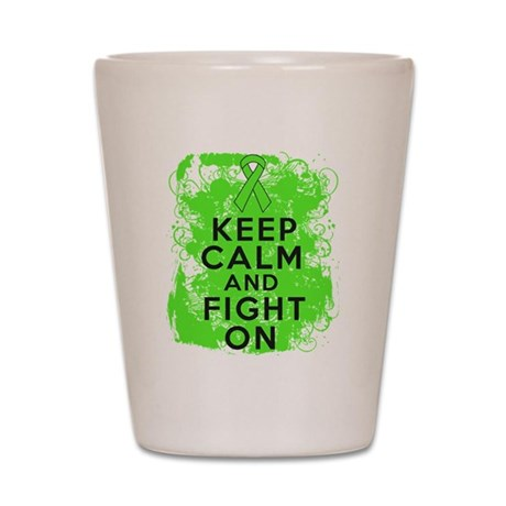 Non-Hodgkins Lymphoma Keep Calm Fight On Shot Glas