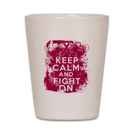Multiple Myeloma Keep Calm Fight On Shot Glass