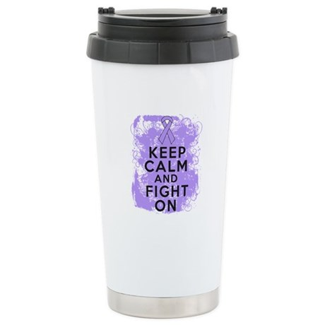 General Cancer Keep Calm Fight On Ceramic Travel M