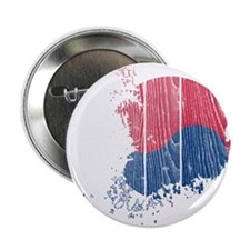 "South Korea Flag And Map 2.25"" Button (100 pack)"