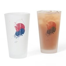 South Korea Flag And Map Drinking Glass