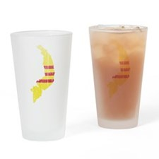 South Vietnam Flag And Map Drinking Glass