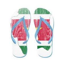 Suriname Flag And Map Flip Flops