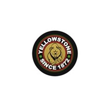 Yellowstone Black Circle Mini Button