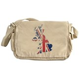 United Kingdom Flag And Map Messenger Bag