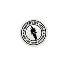 Retro northern Soul Torch Fla Mini Button
