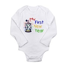 Cute Happy new year 2009 Long Sleeve Infant Bodysuit