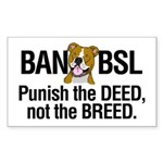 Ban BSL Sticker (Rectangle 10 pk)