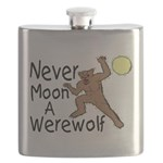 Moon A Werewolf Flask