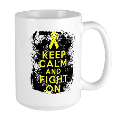 Ewings Sarcoma Keep Calm Fight On Large Mug