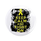 "Ewings Sarcoma Keep Calm Fight On 3.5"" Button"