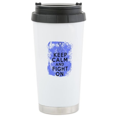 Esophageal Cancer Keep Calm Fight Ceramic Travel M