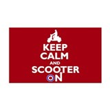 Keep Calm Scooter On (2) 38.5 x 24.5 Wall Peel